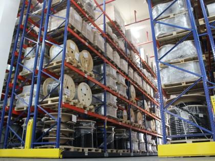 常州某客户移动式托盘货架