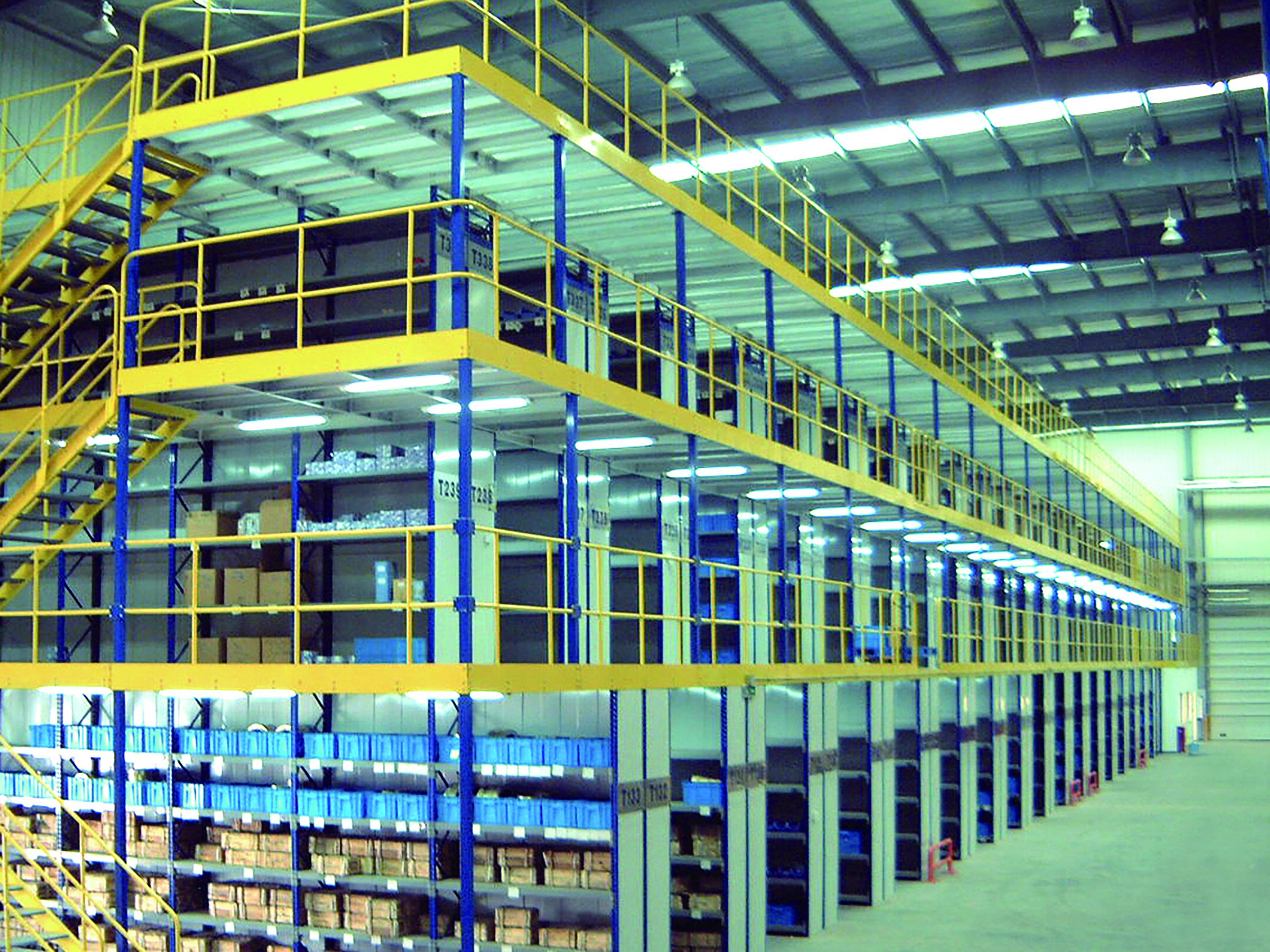 多楼层阁楼式货架系统