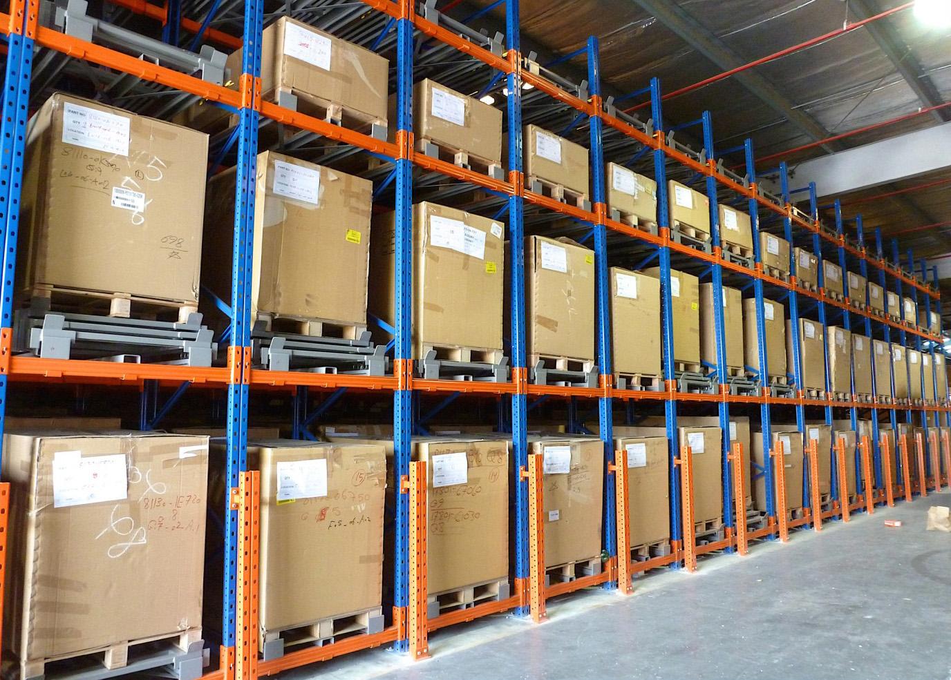 压入式货架系统